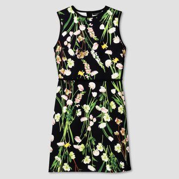 Black English Floral Satin Dress Victoria Beckham Target Line