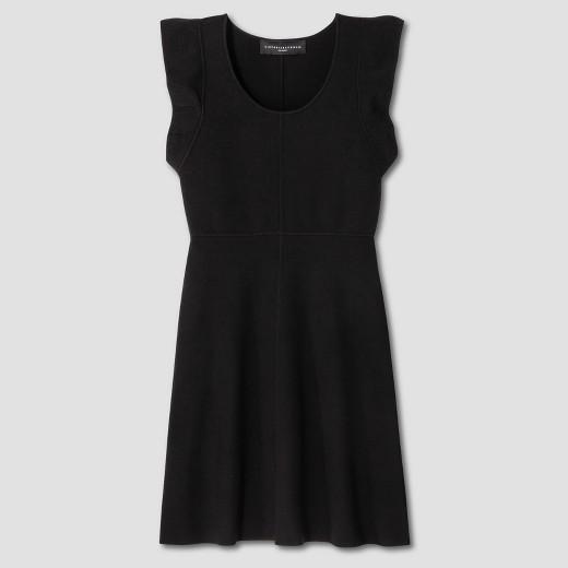 Black Ruffle Knit Dress Victoria Beckham Target Line.jpg